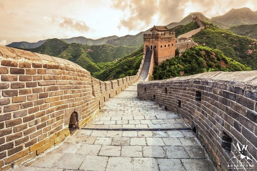 China Destination Wedding Great Wall