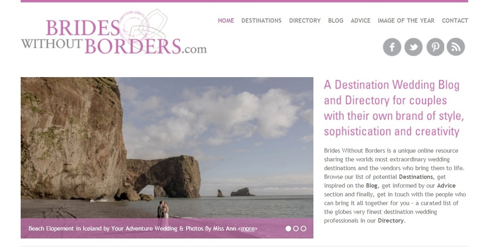 Iceland Adventure Wedding Featured on Brides Without Borders