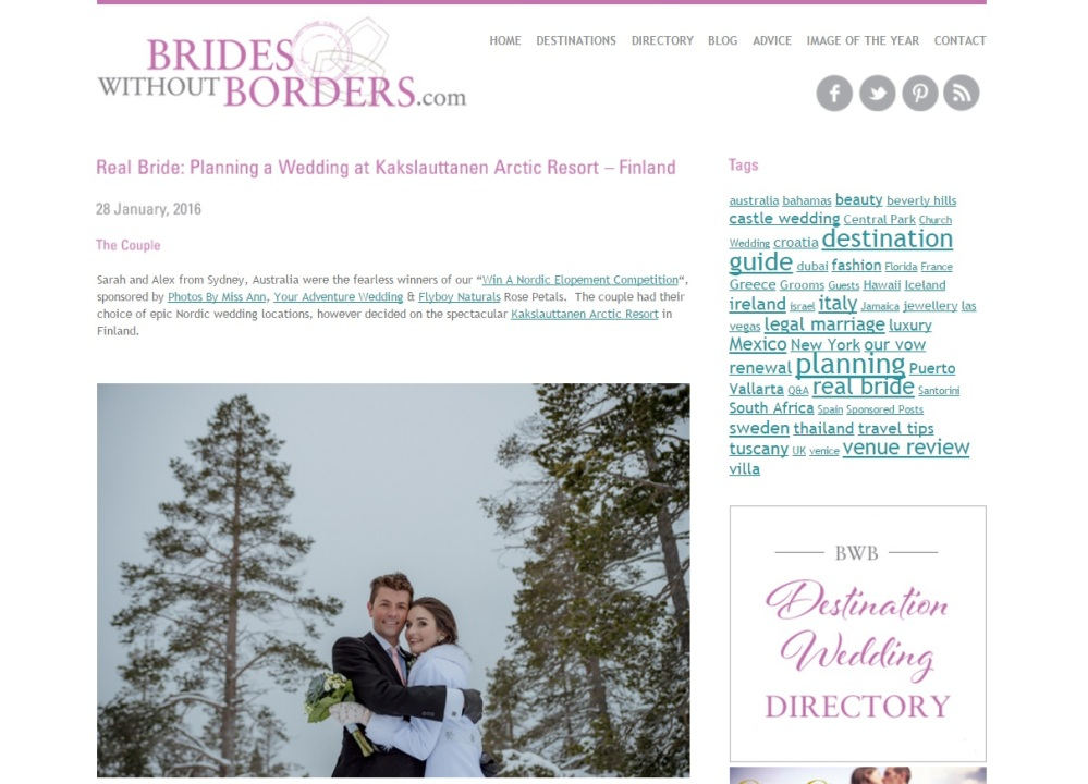 Nordic Wedding Featured on Brides Without Borders